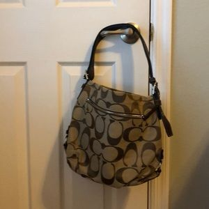 Brown Signature C Printed Coach Large Crossbody
